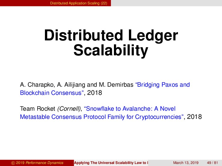 Distributed Application Scaling (22) Distribute...