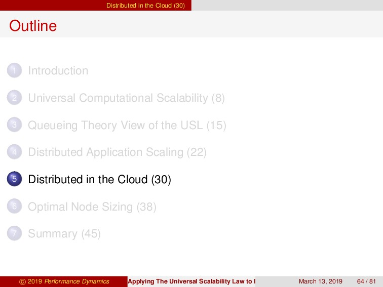 Distributed in the Cloud (30) Outline 1 Introdu...