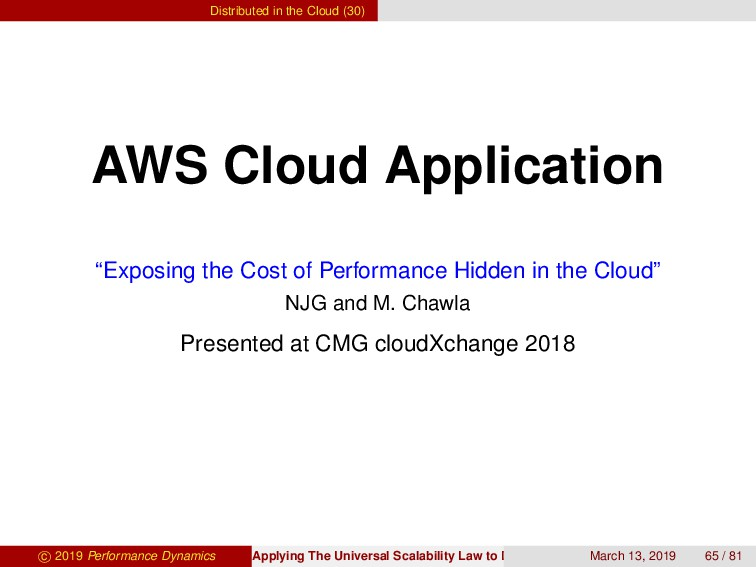 Distributed in the Cloud (30) AWS Cloud Applica...