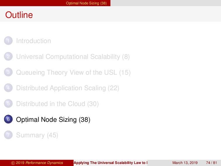 Optimal Node Sizing (38) Outline 1 Introduction...