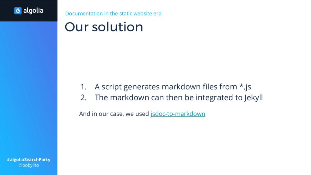 Documentation in the static website era 1. A sc...