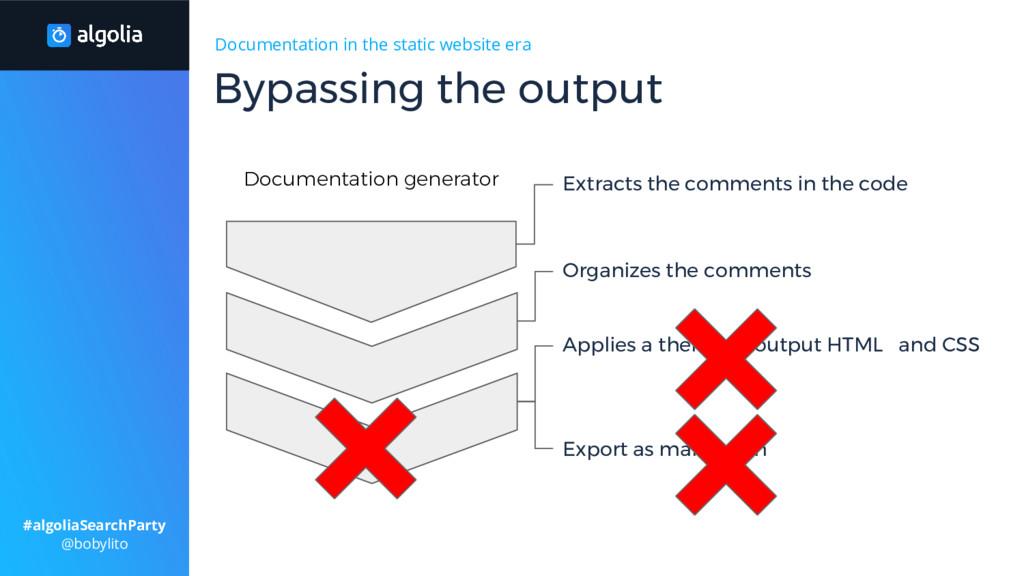 Documentation in the static website era Applies...