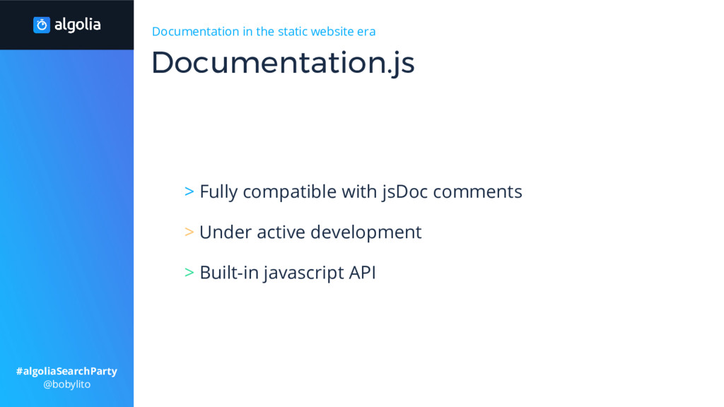 Documentation in the static website era > Fully...