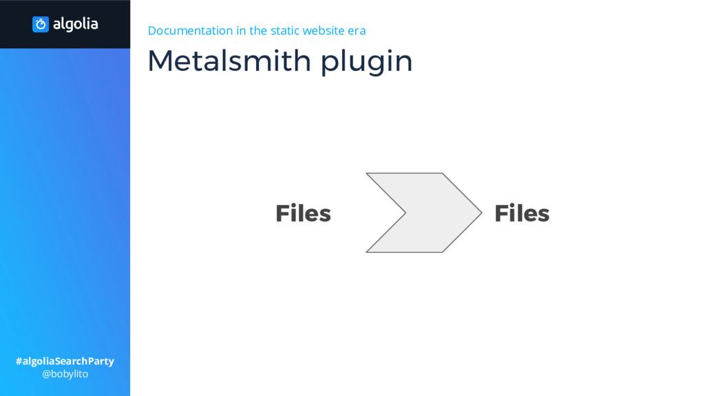 Documentation in the static website era Metalsm...