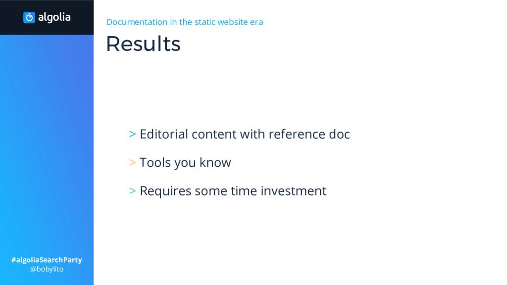 Documentation in the static website era > Edito...