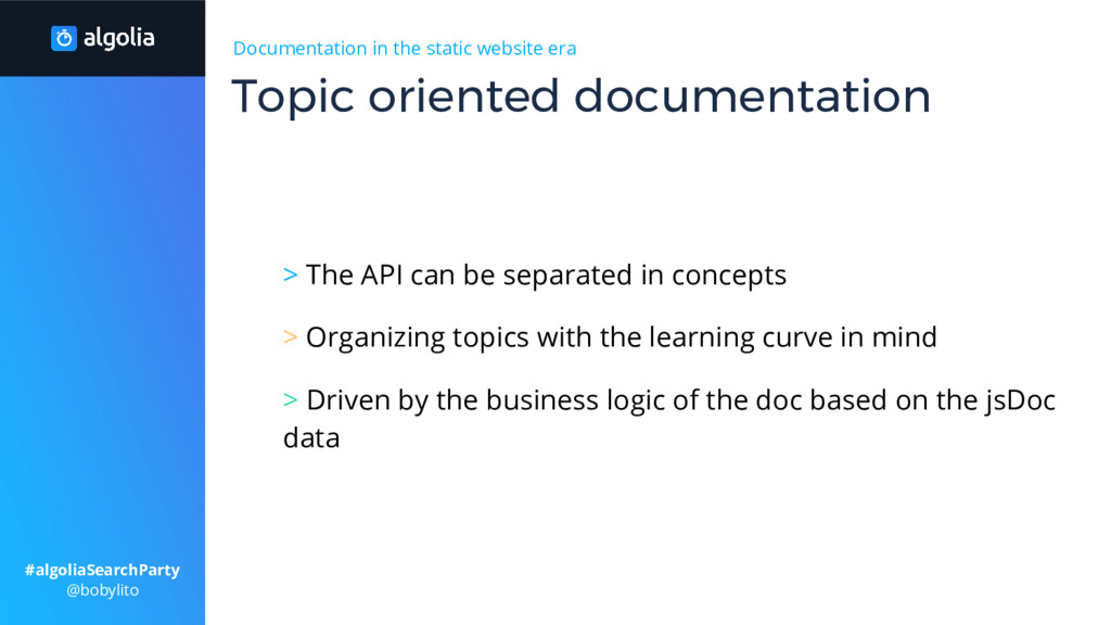Documentation in the static website era > The A...
