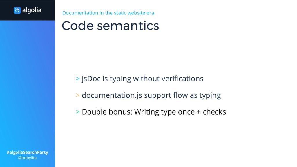 Documentation in the static website era > jsDoc...