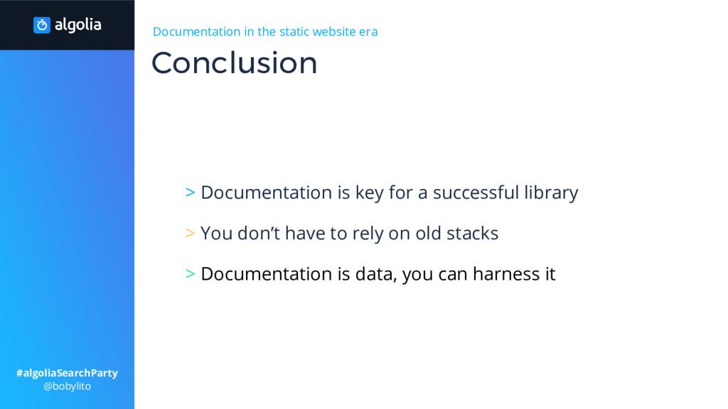 Documentation in the static website era > Docum...