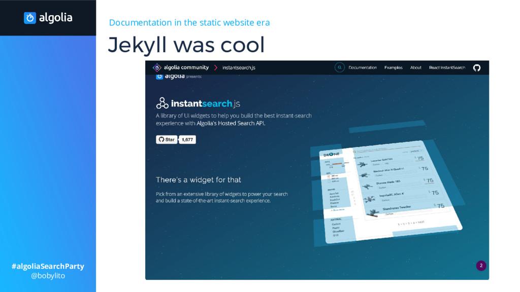Documentation in the static website era Jekyll ...