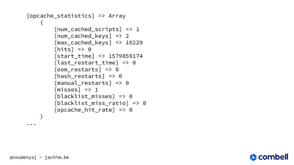 @coudenysj - jachim.be [opcache_statistics] => ...