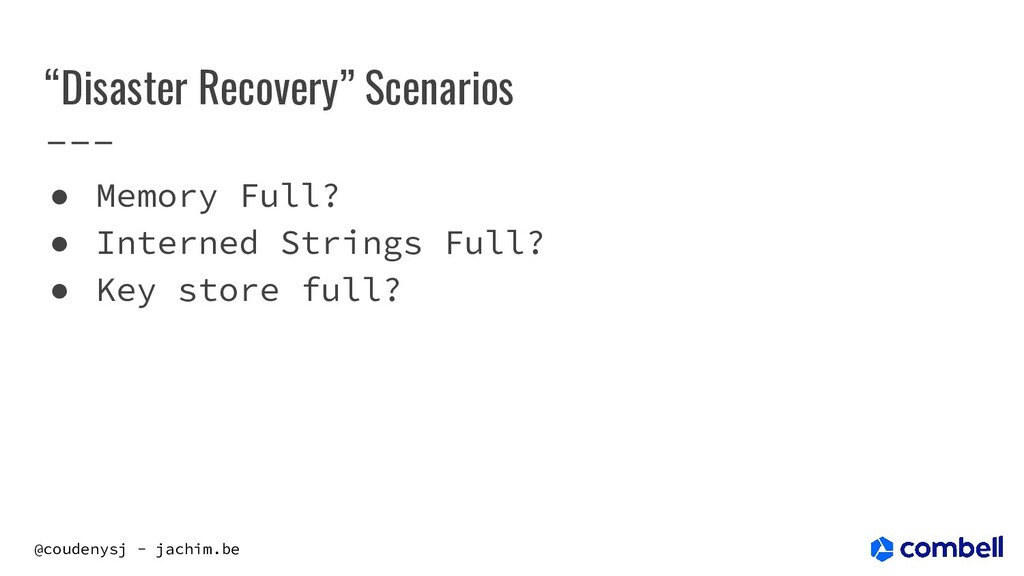 """@coudenysj - jachim.be """"Disaster Recovery"""" Scen..."""
