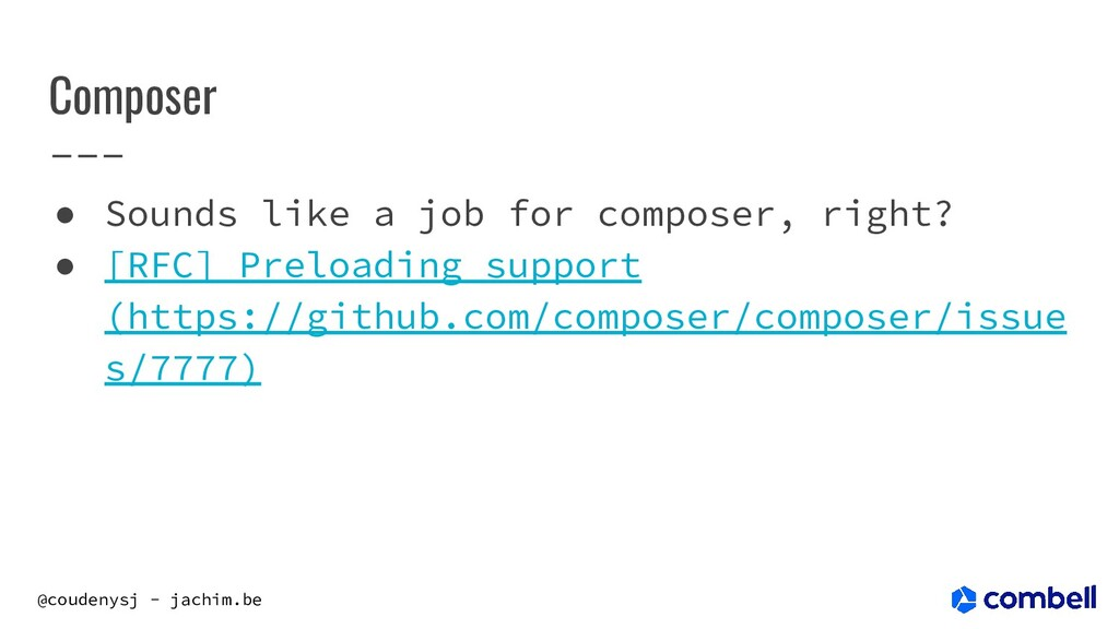 @coudenysj - jachim.be Composer ● Sounds like a...