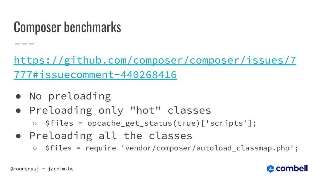 @coudenysj - jachim.be Composer benchmarks http...