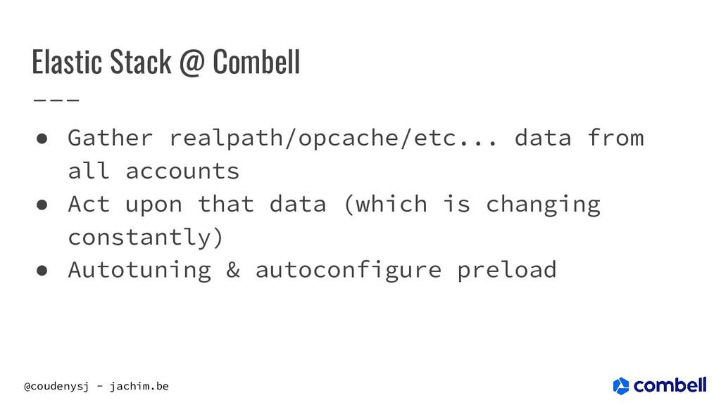 @coudenysj - jachim.be Elastic Stack @ Combell ...