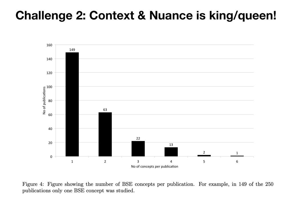 Challenge 2: Context & Nuance is king/queen!