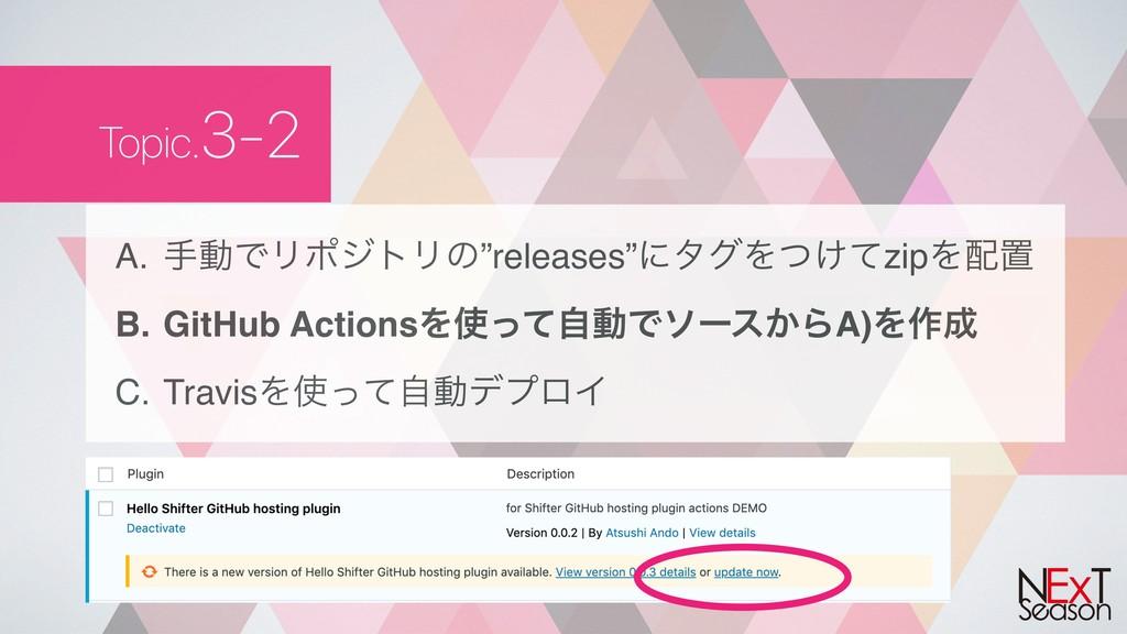 "Topic.3-2 A. खಈͰϦϙδτϦͷ""releases""ʹλάΛ͚ͭͯzipΛஔ ..."