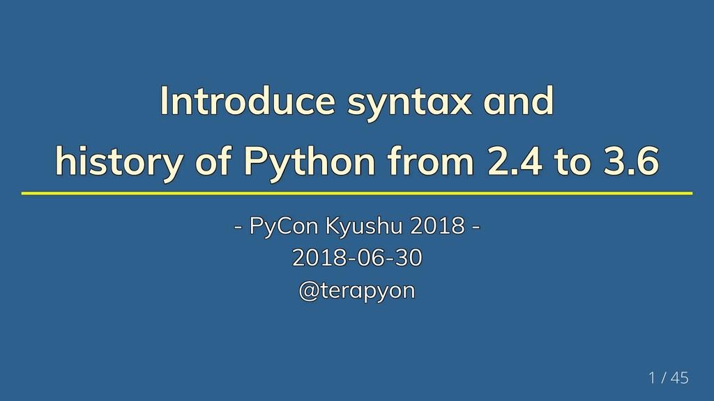 Introduce syntax and Introduce syntax and Intro...