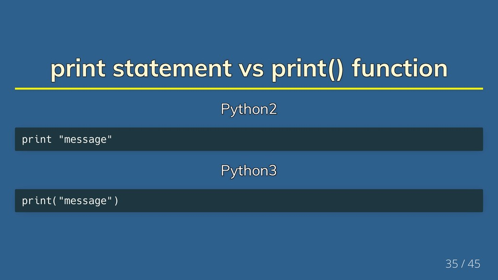 print statement vs print() function print state...