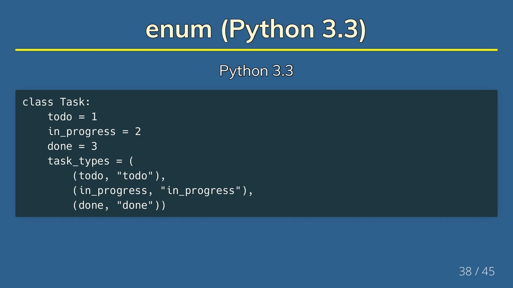 enum (Python 3.3) enum (Python 3.3) enum (Pytho...