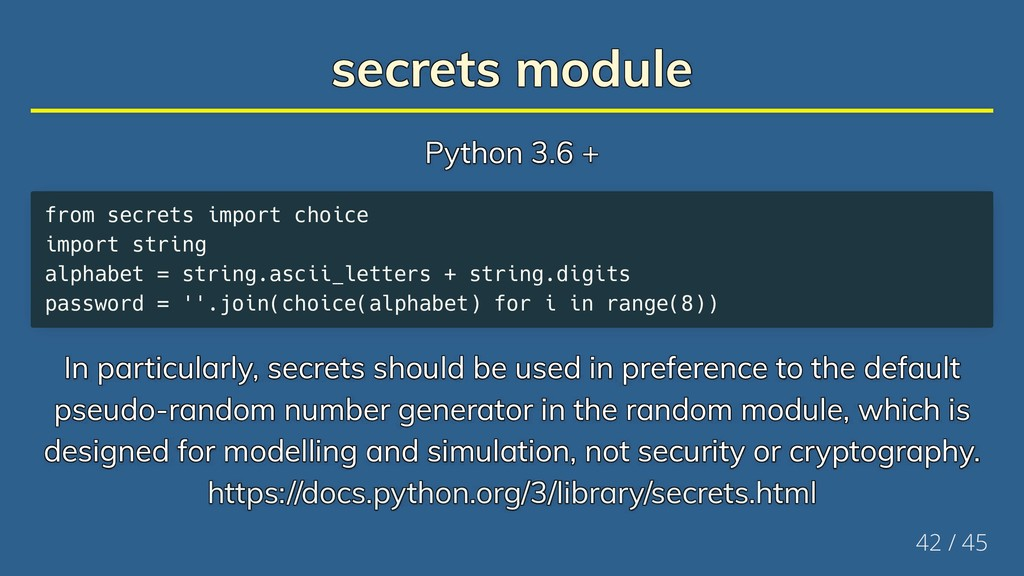 secrets module secrets module secrets module se...