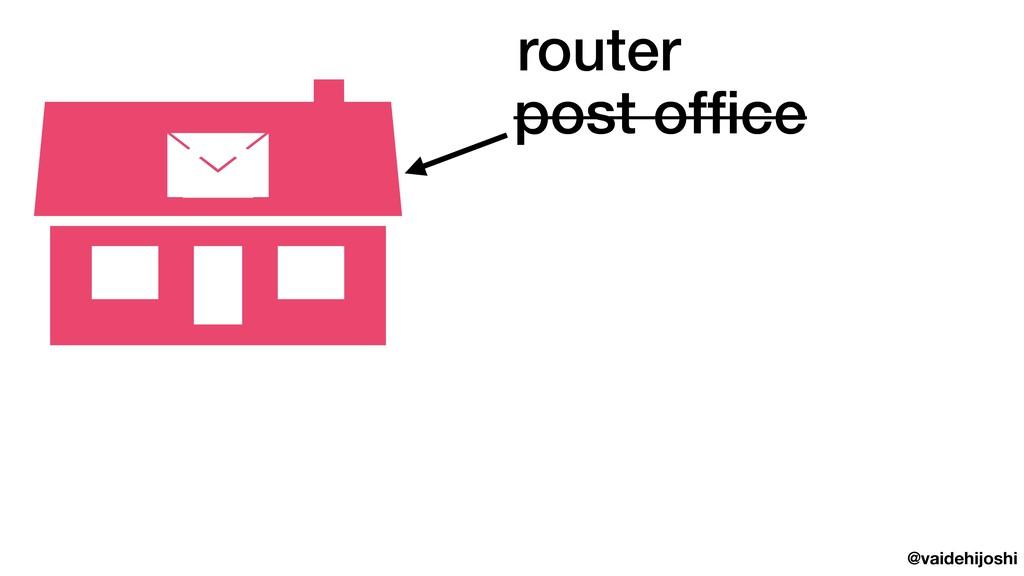 @vaidehijoshi post office post office router