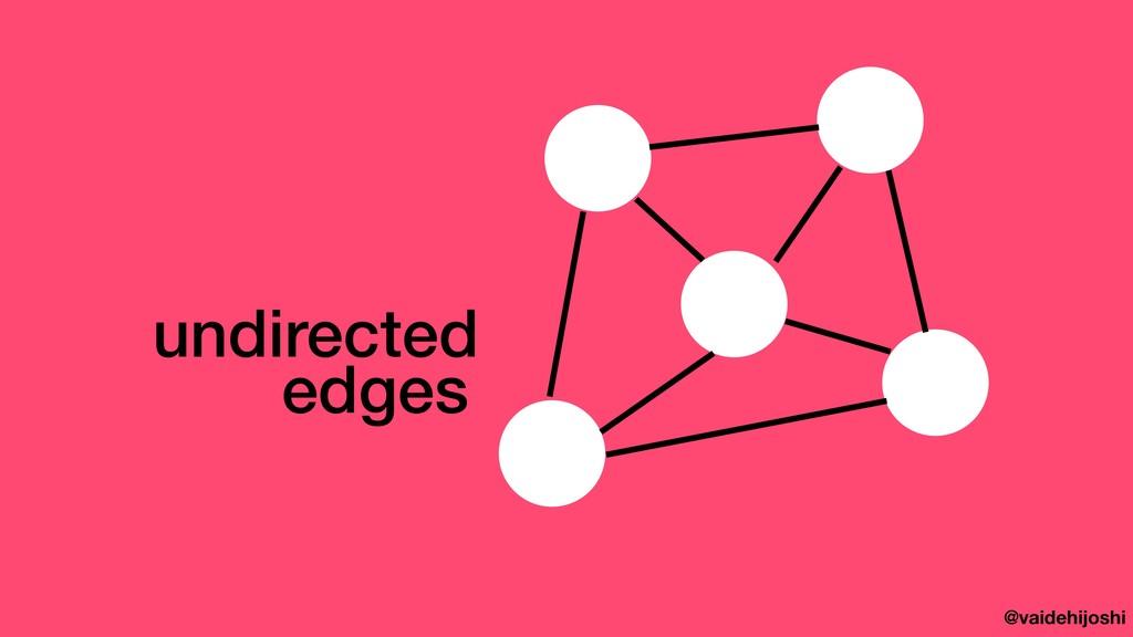 @vaidehijoshi edges undirected
