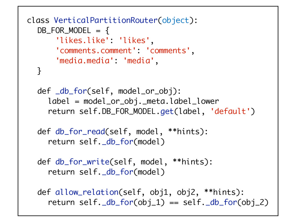class VerticalPartitionRouter(object): DB_FOR_M...