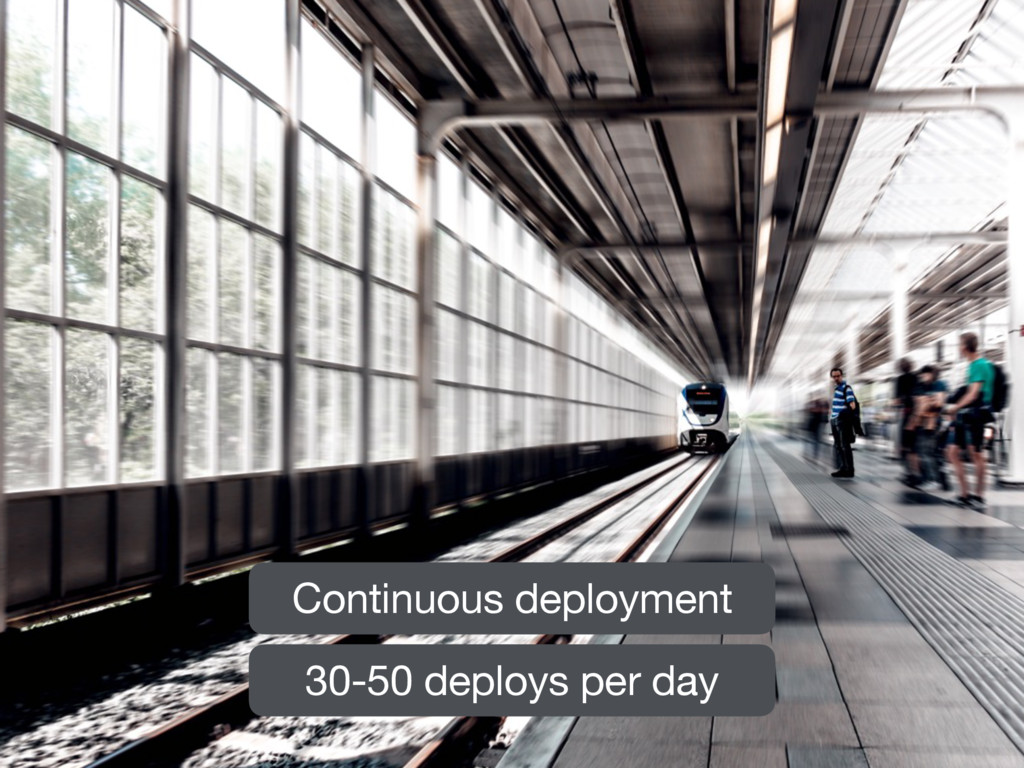 Continuous deployment 30-50 deploys per day