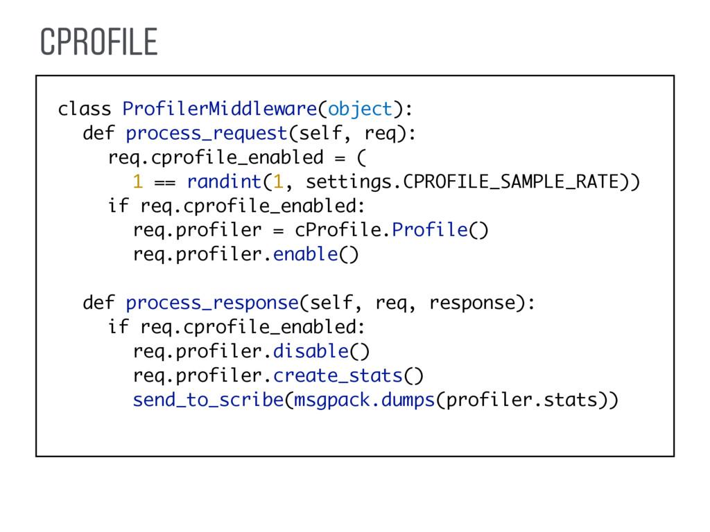 CPROFILE class ProfilerMiddleware(object): def ...