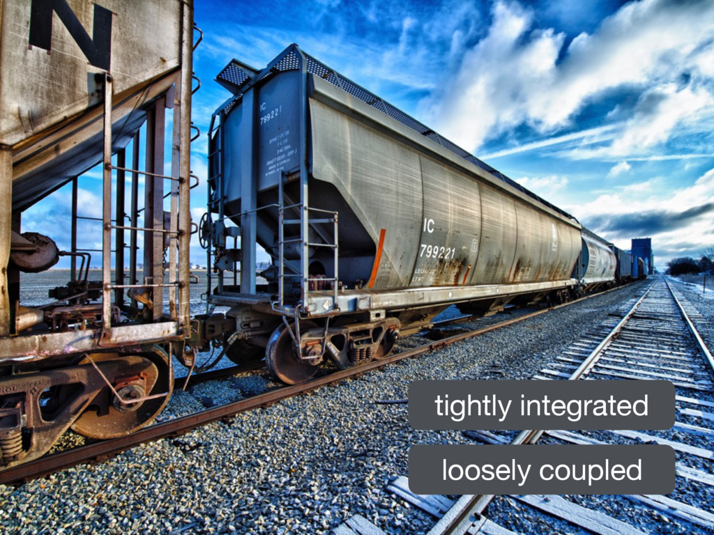 tightly integrated loosely coupled