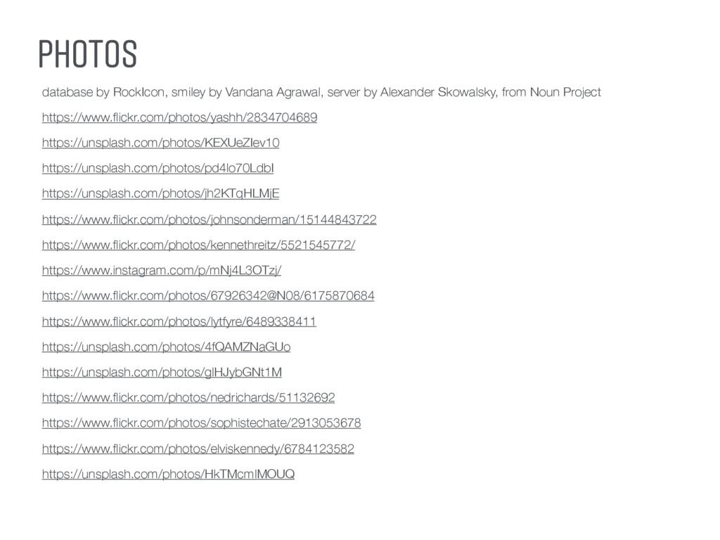 PHOTOS database by RockIcon, smiley by Vandana ...