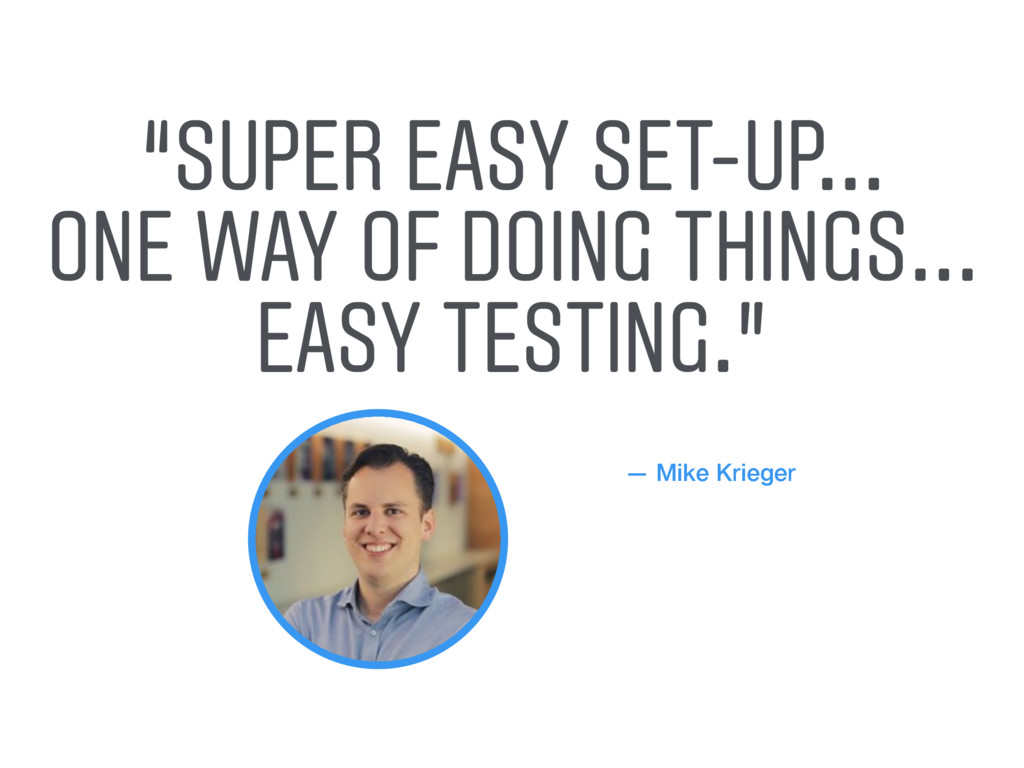 """— Mike Krieger """"SUPER EASY SET-UP... ONE WAY OF..."""