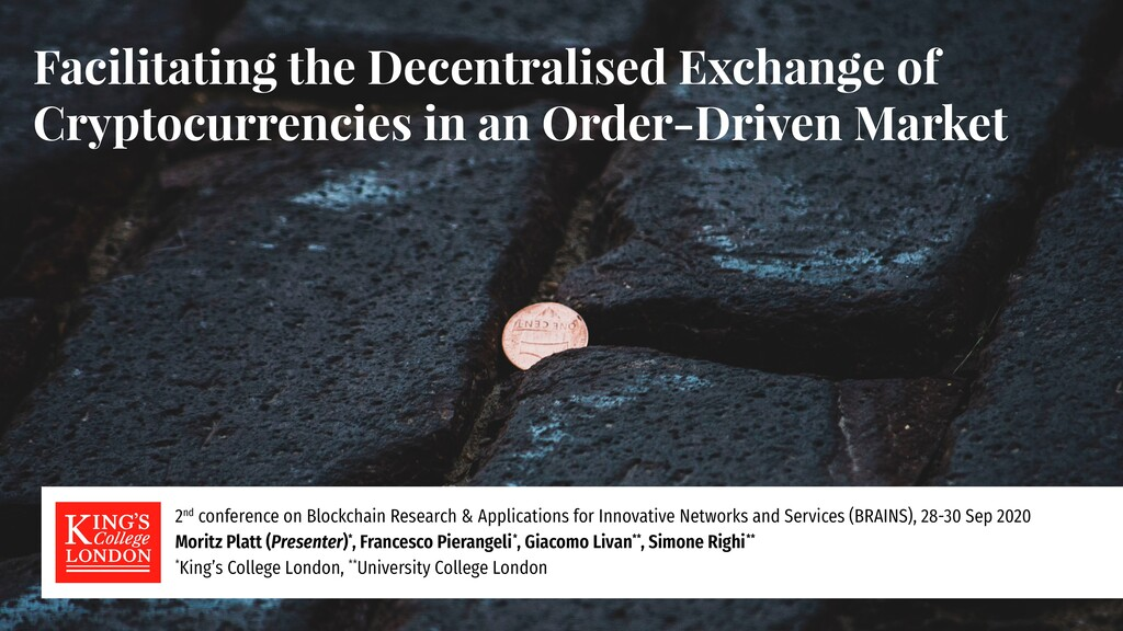 Facilitating the Decentralised Exchange of Cryp...