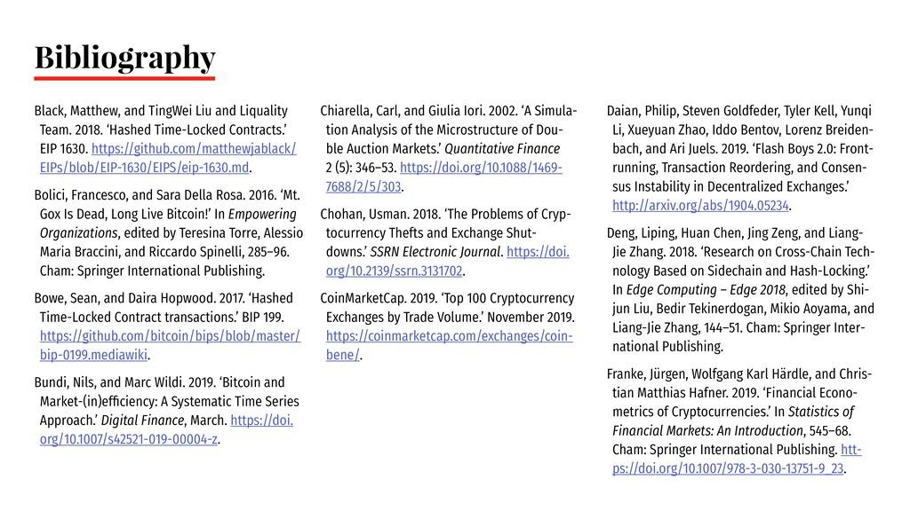 Bibliography Black, Matthew, and TingWei Liu an...