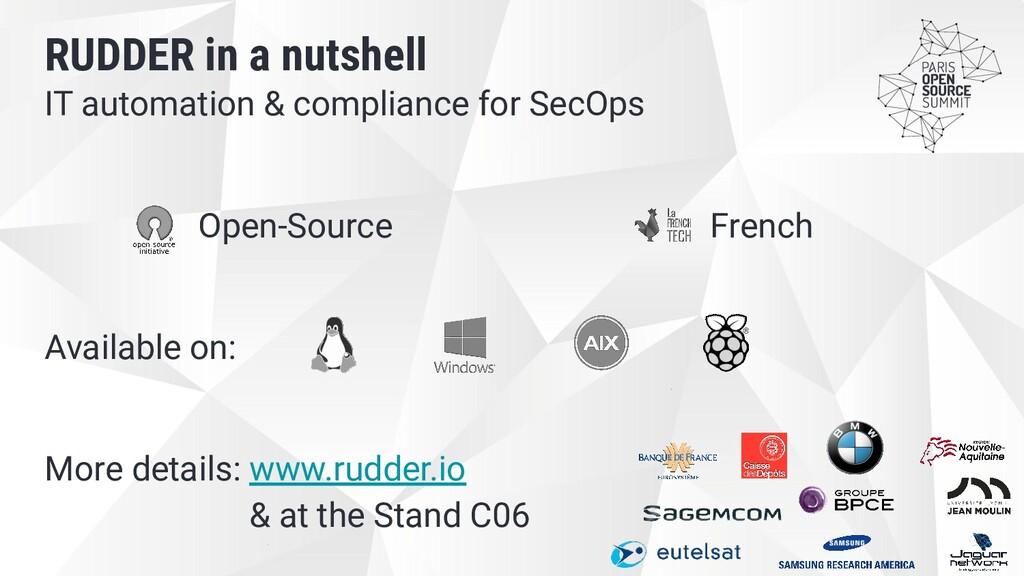 IT automation & compliance for SecOps Open-Sour...