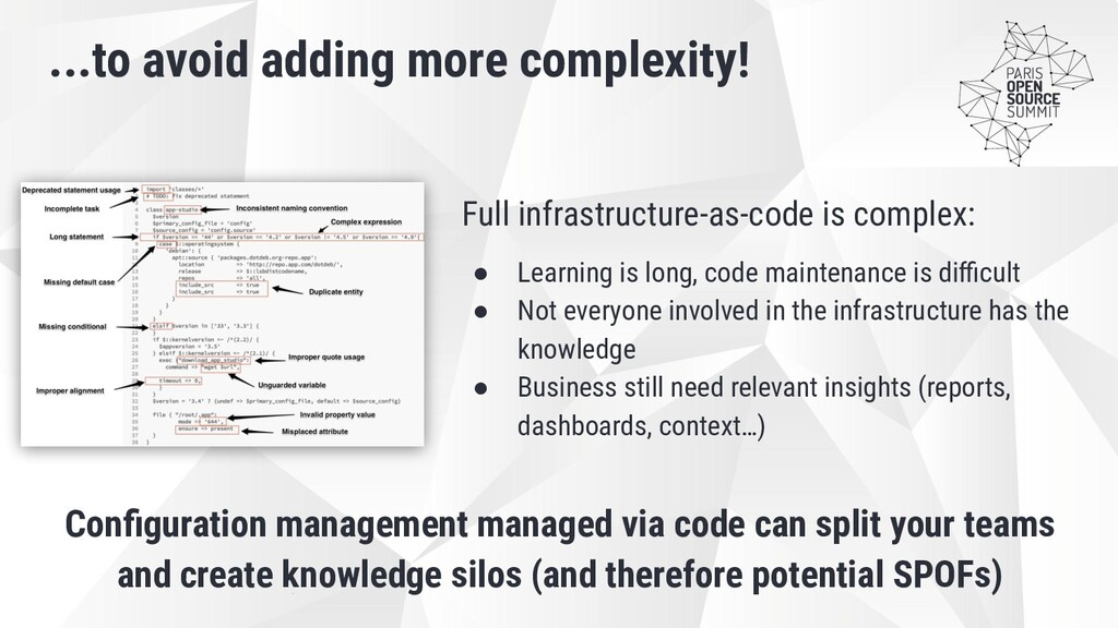 Full infrastructure-as-code is complex: ● Learn...
