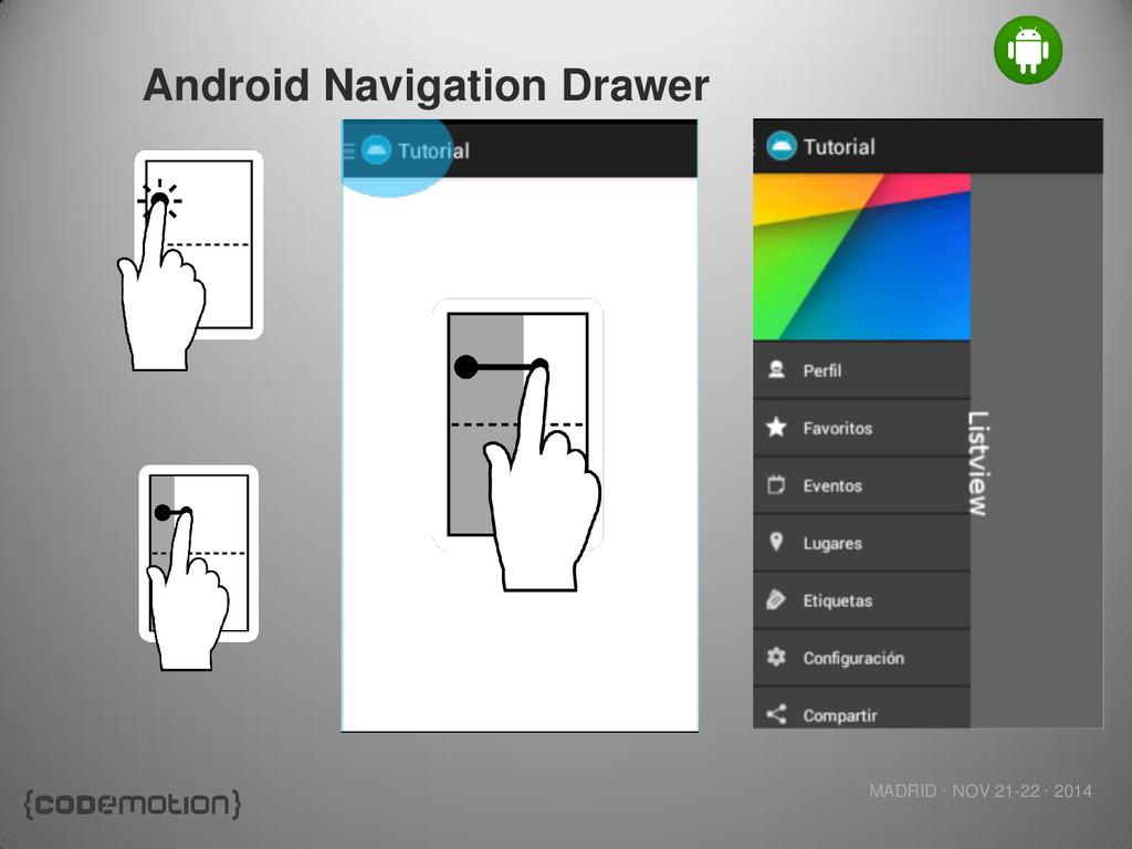 MADRID · NOV 21-22 · 2014 Android Navigation Dr...