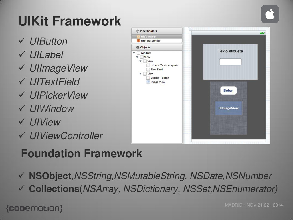 MADRID · NOV 21-22 · 2014 UIKit Framework  UIB...