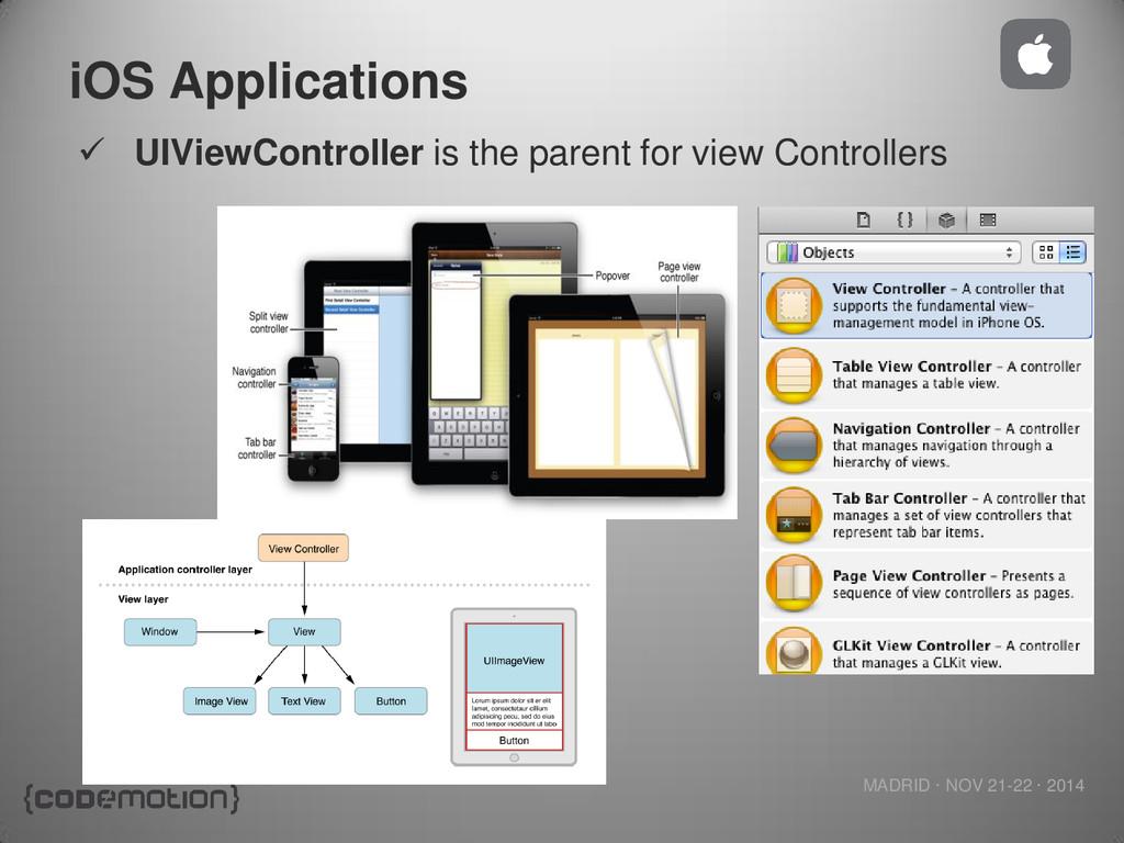 MADRID · NOV 21-22 · 2014 iOS Applications  UI...