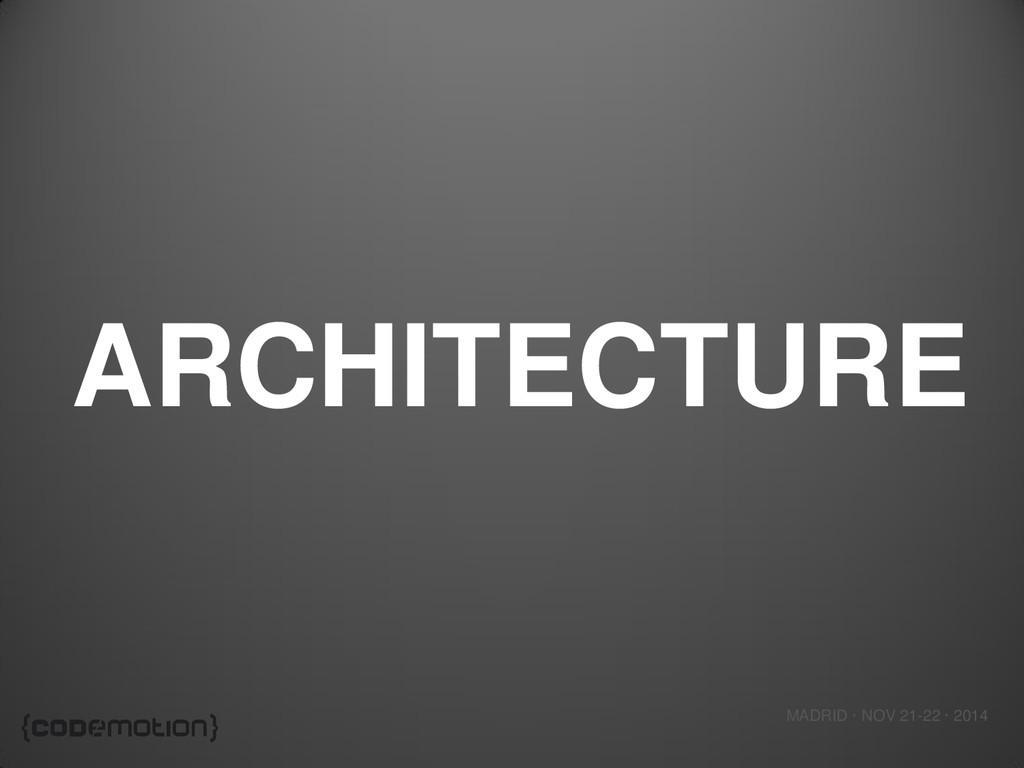 MADRID · NOV 21-22 · 2014 ARCHITECTURE