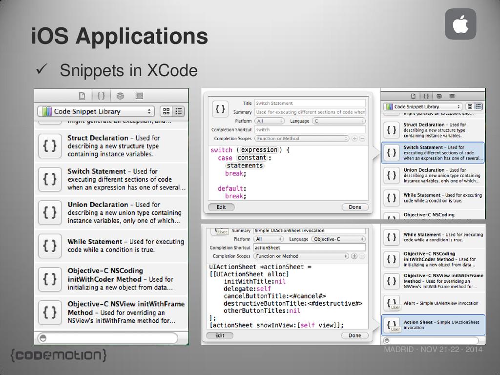 MADRID · NOV 21-22 · 2014 iOS Applications  Sn...