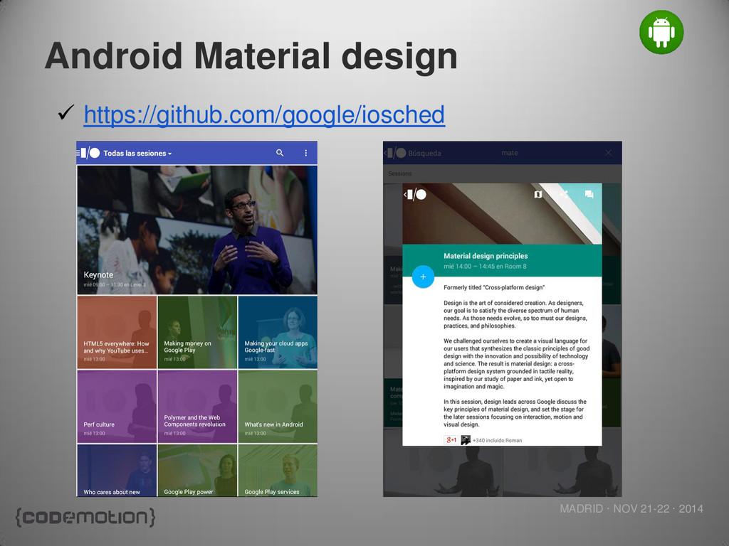 MADRID · NOV 21-22 · 2014 Android Material desi...