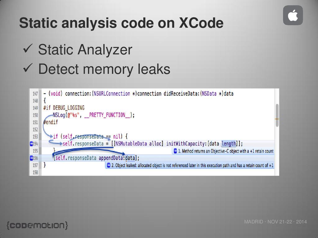MADRID · NOV 21-22 · 2014 Static analysis code ...