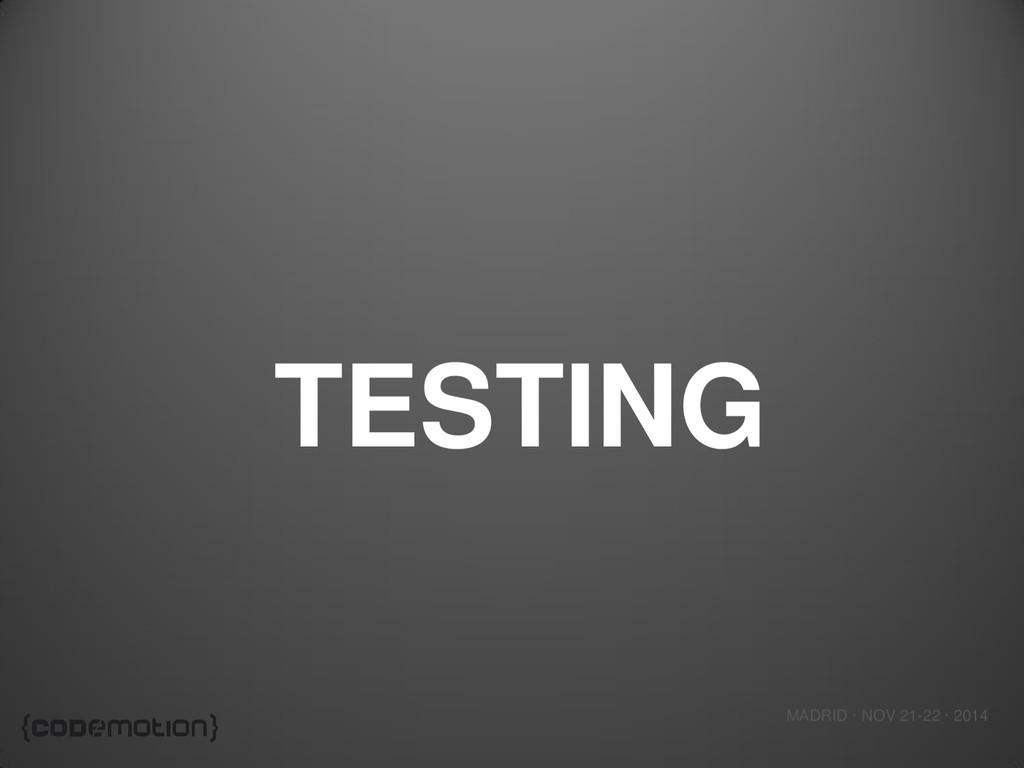 MADRID · NOV 21-22 · 2014 TESTING
