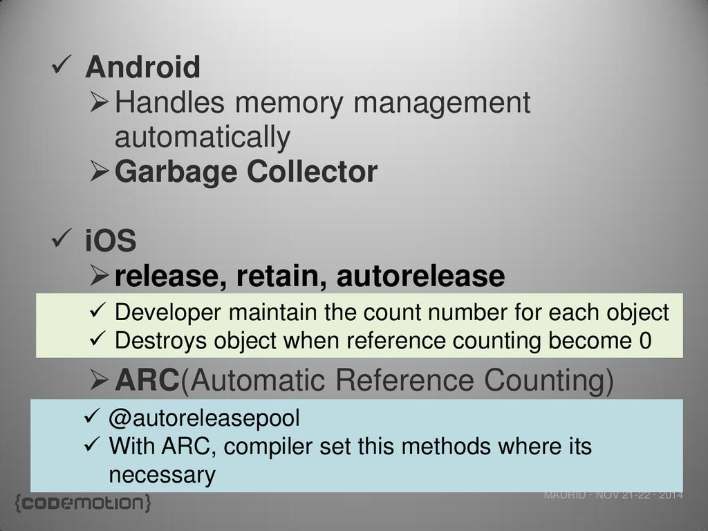 MADRID · NOV 21-22 · 2014  Android Handles me...