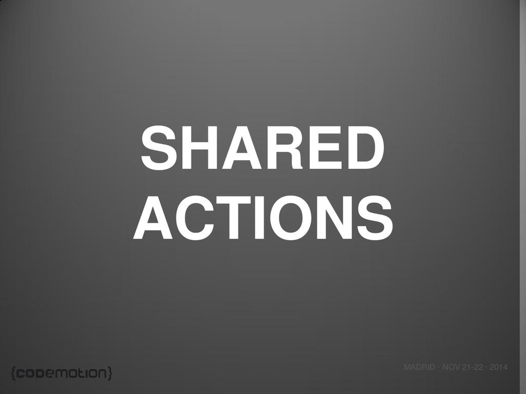 MADRID · NOV 21-22 · 2014 SHARED ACTIONS