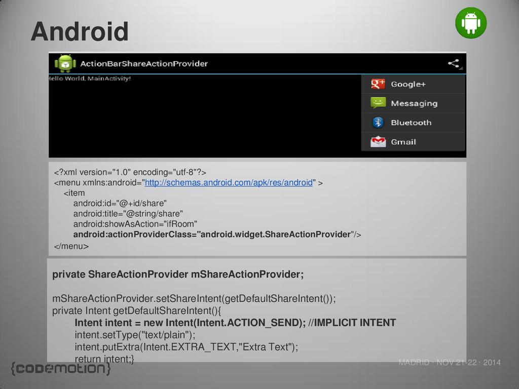 MADRID · NOV 21-22 · 2014 Android <?xml version...