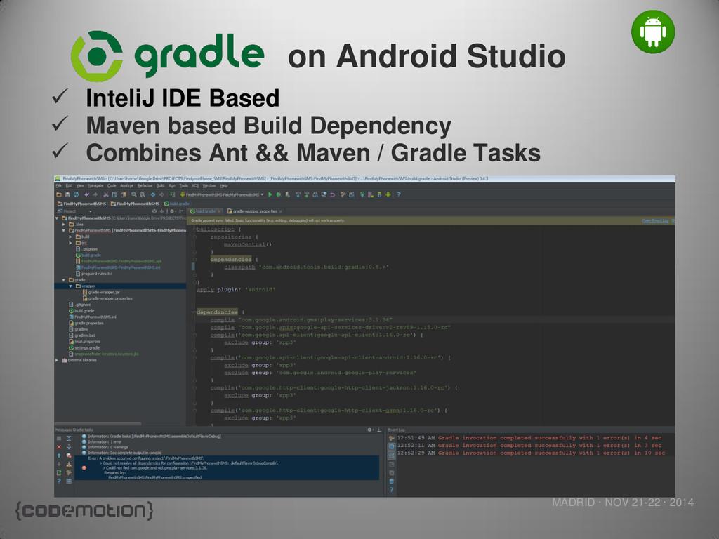 MADRID · NOV 21-22 · 2014 on Android Studio  I...