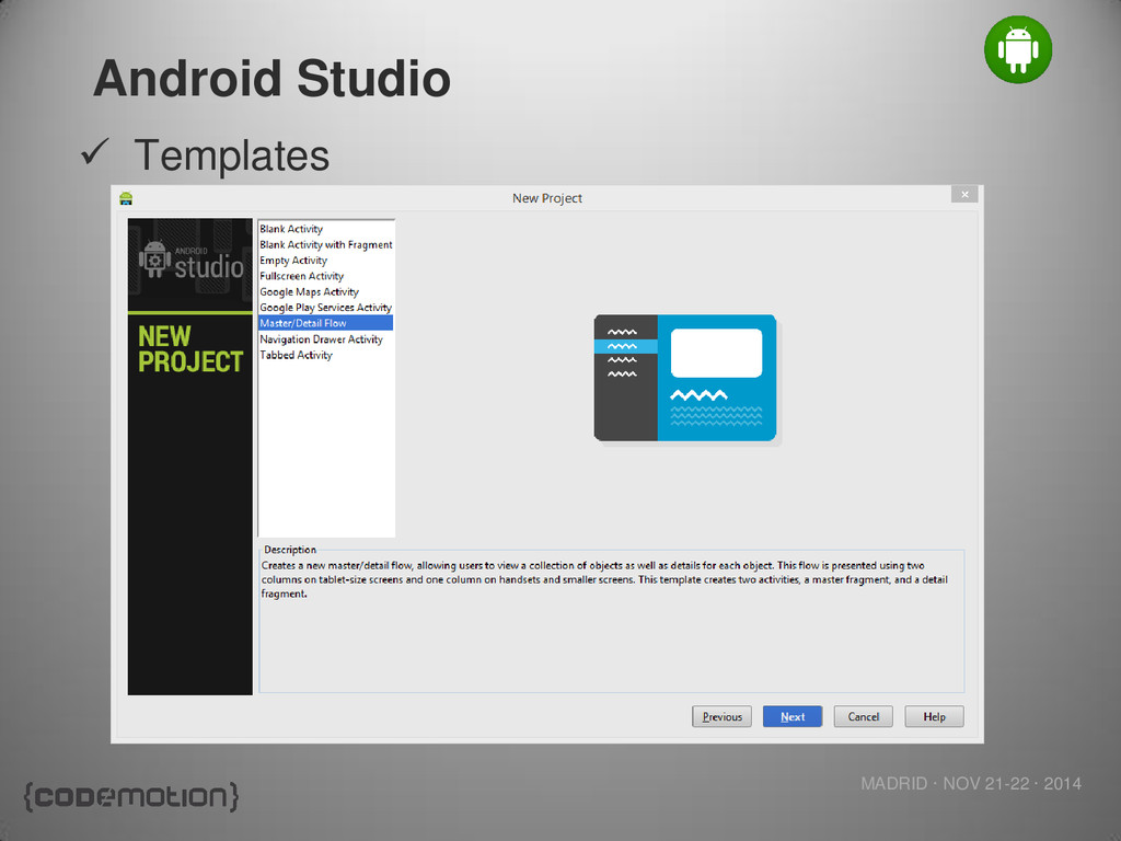 MADRID · NOV 21-22 · 2014 Android Studio  Temp...