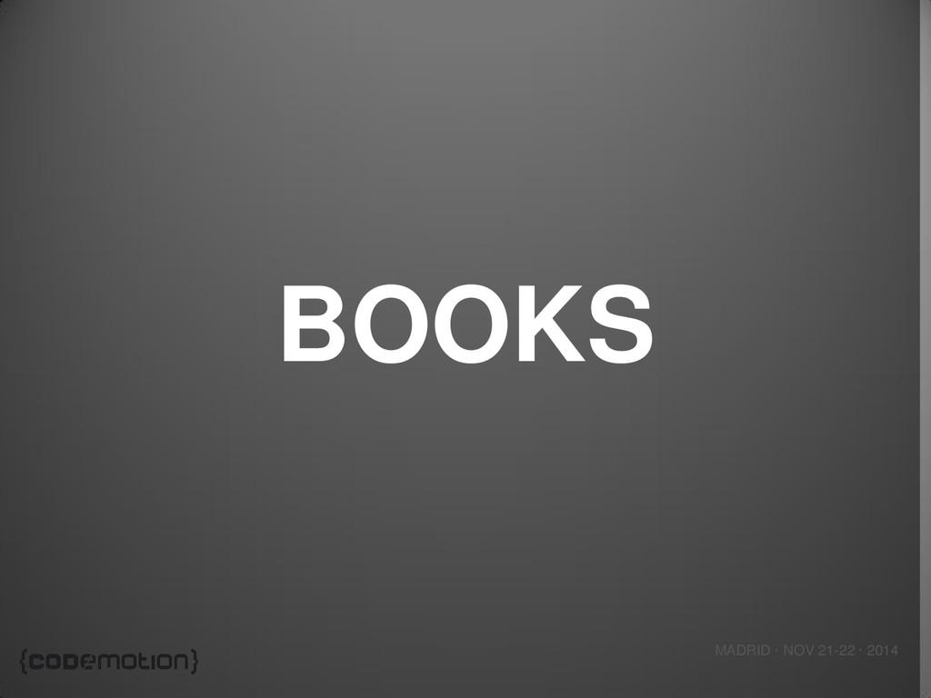 MADRID · NOV 21-22 · 2014 BOOKS